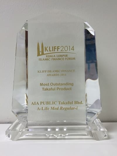 KLIFF Islamic Finance Awards 2014-Most Outstanding Takaful Product