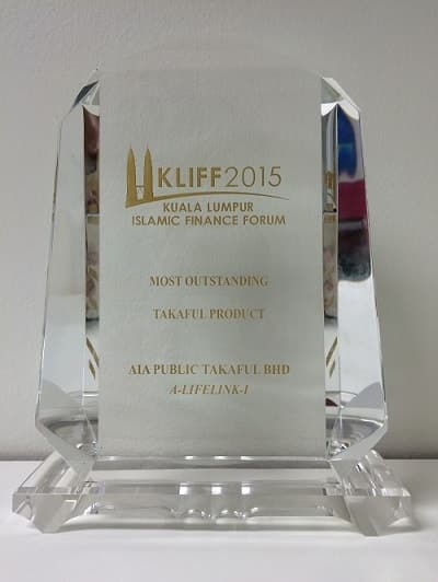 KLIFF Islamic Finance Awards 2015-Most Outstanding Takaful Product