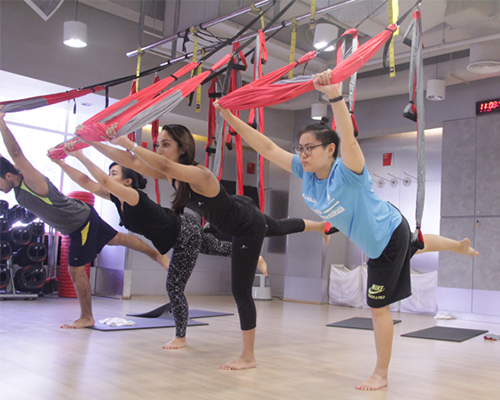 Image result for aerial yoga